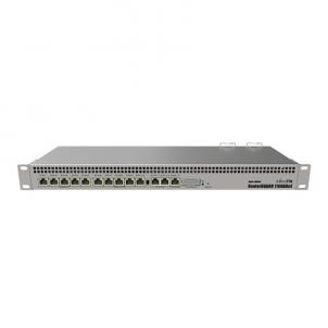 Maršrutizatorius MikroTik Router Switch RB1100AHx4 Dude Edition 10/100/1000 Mbit/s, Ethernet LAN (RJ-45) ports 13, Rack mountable, 2x M.2, 2x SATA3, Web Management, 13, Dual Redundant, Quad Core 1.4GHz, 1 GB Maršrutizatoriai kompiuteriams