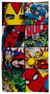 Marvel komiksų Defenders paplūdimio rankšluostis Dvieļi