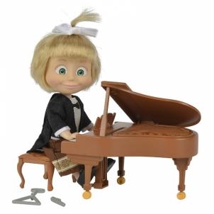 Maša ir lokys - lėlė ir aksesuarai pianistas