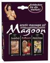 Masažinių aliejų rinkinys Magoon Massage Oils 3 pcs