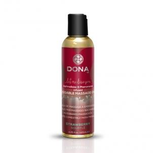 Masažo aliejus DONA Kissable massage oil (Braškių skonio) Massage oils