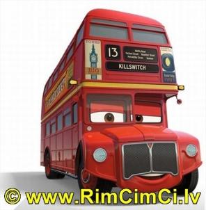mašinytė Mattel V2847 Disney Cars Double Decker Bus DELUXE