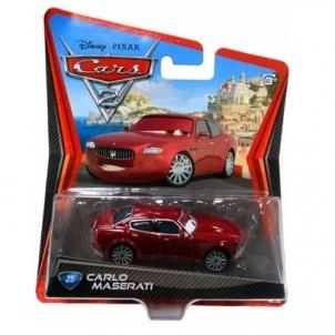 Mašinytė Mattel V2868 (V2867,V2863,V3615) Disney Cars LIGHTNING McQUEEN and FRANCESCO BERNOULLI CLIFFSIDE CHALLENGE Toys for boys