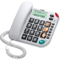 MaxCom KXT480BB laidinis telefono aparatas, baltas Laidiniai telefonai