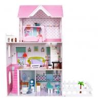 Medinis namas lėlėms su priedais