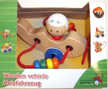 Medinis žaisliukas- lektuvėlis Wooden vehicle Kaladėlės ir statybos žaislai