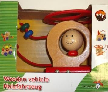 Medinis žaisliukas- sraigtasparnis Wooden vehicle Kaladėlės ir statybos žaislai