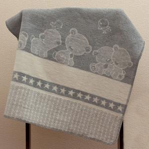 Medvilninis pledas Popsi, 75x100 cm (pilka) Pledai