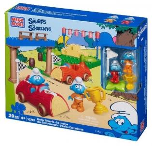 Mega Bloks 10745 Racin` Smurfs LEGO ir kiti konstruktoriai vaikams