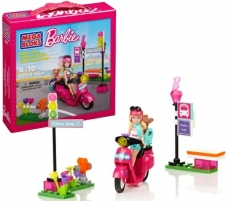 Mega Bloks Barbie 80213 / 80210 Build and Play Scooter Toys for girls