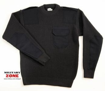 Megztinis su antpečiais, juodas Kariški, medžiokliniai džemperiai ir megztiniai