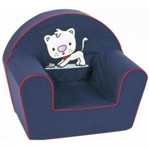 Mėlynas foteliukas su šuneliu