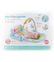 Mėlynas kūdikių muzikinis gimnastikos kilimėlis MR118 Saugiai kūdikystei