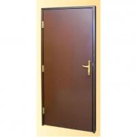 Metal door EKO 900x2080 mm, outdoor, armored, brown, thermal-insulated, left hand