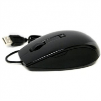 Mice : Dell Laser Scroll USB (6 Buttons) Silver and Black Mouse (Kit)