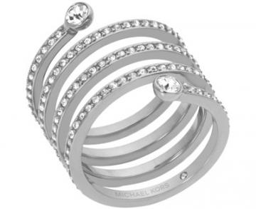 Michael Kors žiedas su kristalais MKJ4723040 (Dydis: 59 mm)