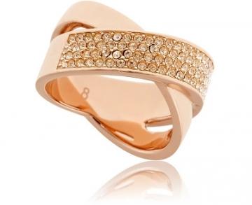 Michael Kors žiedas su kristalu MKJ2869791 (Dydis: 54 mm)