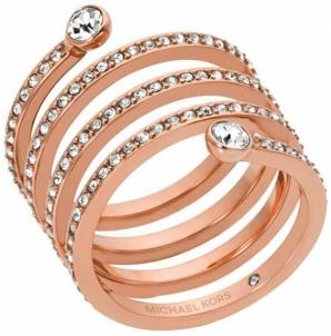 Michael Kors žiedas su kristalu MKJ4724791 (Dydis: 54 mm)