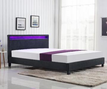 Miegamojo lova ARDA 160 su LED apšvietimu Miegamojo lovos