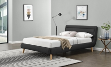 Miegamojo lova ELANDA 140 tamsiai pilka Miegamojo lovos