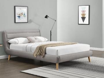 Miegamojo lova ELANDA 140 šviesiai pilka Miegamojo lovos