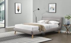 Miegamojo lova ELANDA 160 šviesiai pilka Miegamojo lovos