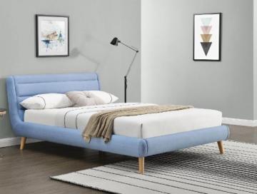 Miegamojo lova ELANDA 160 šviesiai mėlyna Miegamojo lovos