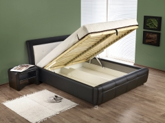 Miegamojo lova SAMANTA P ruda/smėlio