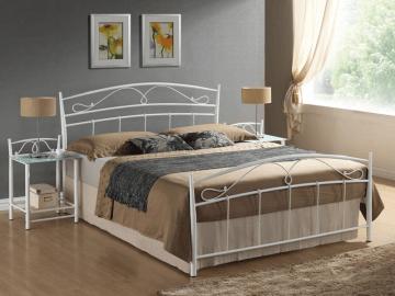Miegamojo lova Siena 160 balta Baldai sandėlyje.