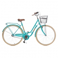 Miesto dviratis Holland 3 speed, mint/beige size 28 City bikes