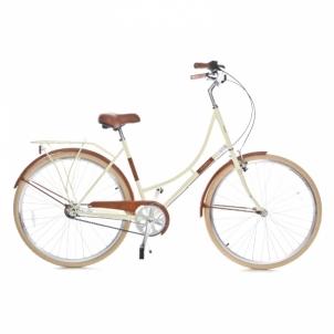 Miesto dviratis Holland 3 speed 700Cx35C, cream/brown size 28 Miesto dviračiai