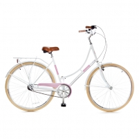 Miesto dviratis Holland 3 speed 700Cx35C, white/pink size 28 Bikes available