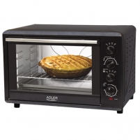 mikroviļņu Adler AD 6010 Electric oven, Capactity 45L, Power 2000W, 3 heating modes, Timer, Black