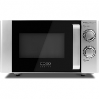 Mikrobangų krosnelė Caso Ecostyle Ceramic 03316 Microwave oven with grill, Grill, Intuitive control using rotary knobs, 700 W, Black/Silver, Defrost function
