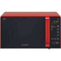 Mikrobangų krosnelė DAEWOO Microwave oven with Grill KQG-663R 20 L, Grill, Electronical, 700 W, Red /Black, Free standing, Defrost function Mikrobangų ir elektrinės krosnelės