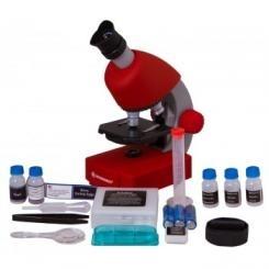 Mikroskopas Bresser Junior 40-640x - raudonas Mikroskopi