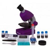 Mikroskopas Bresser Junior 40-640x - violetinis
