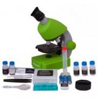 Mikroskopas Bresser Junior 40-640x - žalias