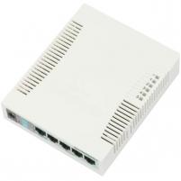 MikroTik RB260GS SwitchOS 5xGig LAN, 1xSFP,web browser Soho Switch, plastic case