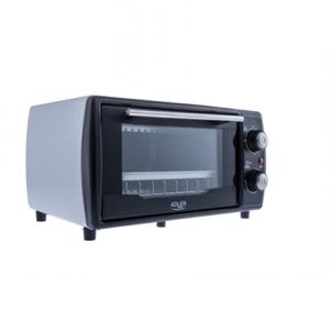 Mini orkaitė Adler Mini oven AD 6003 9 L, With grill, Black/Silver, 1000 W Mikrobangų ir elektrinės krosnelės