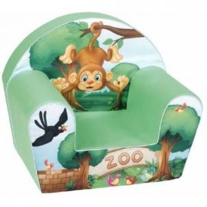 Minkštas foteliukas su beždžionėle Foteliai, sėdmaišiai vaikams