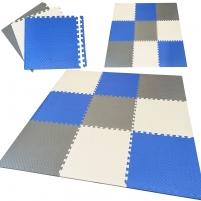 """Minkštas kilimėlis """"Spalvos"""", 180x180, mėlynas Safe infancy"""
