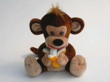 Bezdžionėlė su bananu vidutinė BZ-2 42 x 43 x 44 cm
