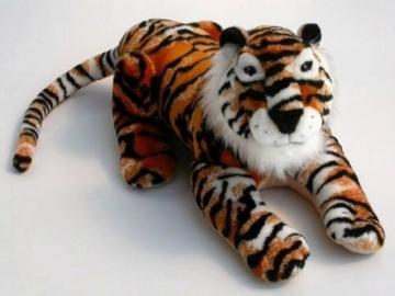 Minkštas žaislas Tigras gulintis TG-117 37 x 35 x 74 cm Minkšti žaislai