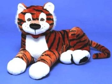 Minkštas žaislas Tigras Jonas guli TG-316 45 x 85 x 55 cm Minkšti žaislai