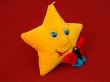 Minkštas žaislas Žvaigždutė su drugeliu ZV-1 40 x 40 x 15 cm Minkšti žaislai