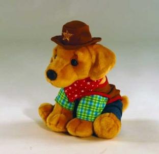 Minkštas žaisliukas Keel Toys SD4210 Šuniukas Šerifas 30cm Minkšti žaislai