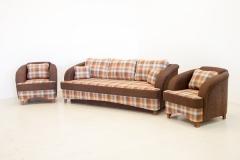 Minkštų baldų komplektas RETRO (sofa-lova ir 2 foteliai) Sofos, sofos-lovos