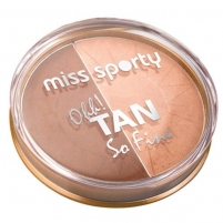 Miss Sporty Ohh! Tan So Fine Bronzing Powder Cosmetic 6,2g 001 Sun Kissed Pudra veidui