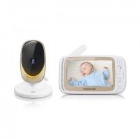 Mobili auklė Motorola Comfort 60 Connect Baby Monitor, White/Gold Saugiai kūdikystei